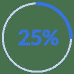 25percent transparent