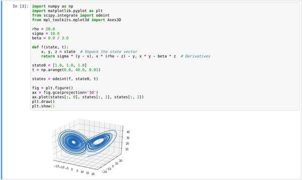 Lorenz System, Python Simulation