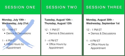 Summer Faculty Workshop Schedule - Open Zoom