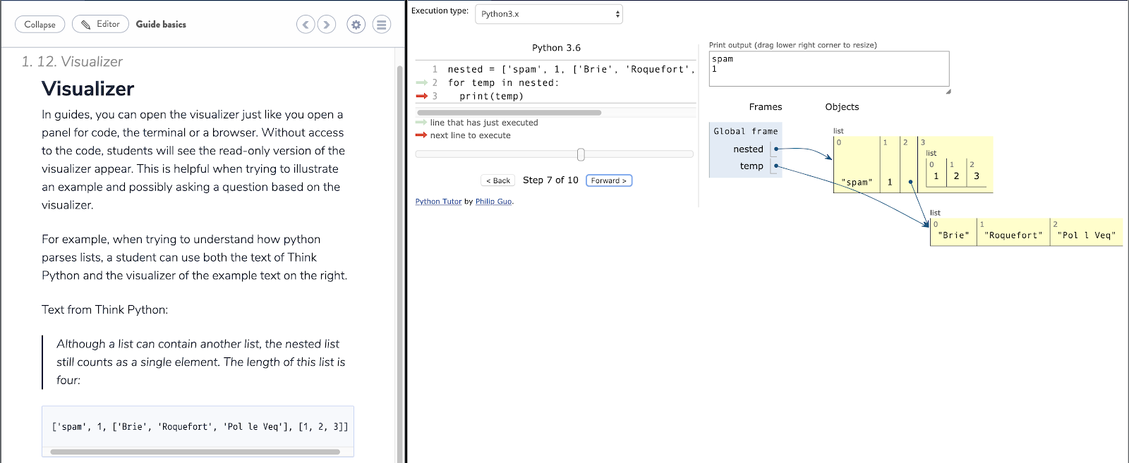 "Python Tutor comes to Codio as ""Visualizer"""